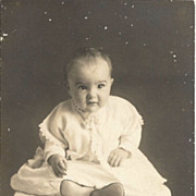 Real Photo P C Baby in Christening Gown