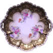 German Porcelain Floral Plate  Hand Painted