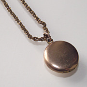 Baby or Young Child Locket with orig. Chain