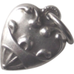 TINY Sterling Heart Puffy Heart Charm