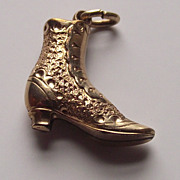 Victorian Ladies High Top Boot Shoe Charm