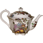 Sadler Teapot with Masons style Fruit Pattern