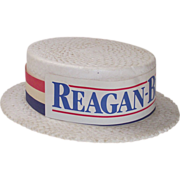 Reagan-Bush N.H. Republican Poll Workers Hat 1980