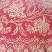 American Jacquard Coverlet Coral and Cream Double Dated 1829  1856