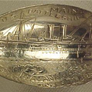 Battleship Maine Captain Sigsbee Souvenir Spoon