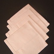 4 Piece Set of Linen Breakfast Tray Napkins