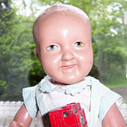 10'  Parsons Jackson Doll. US made Character Baby of Biscoline, a heavy form of celluloid ...