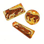 Fabulous Spotted Big Cat Leopard Compact Comb and Lipstick Set