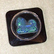 REDUCED Beautiful Old Black French Egyptian Revival Brooch
