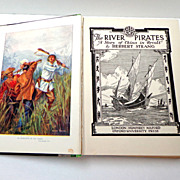 River Pirates  / A Story of China in Revolt by Herbert Strang.  1927.  Unusual Cover Design. I