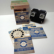 Sawyers View-Master Stereoscope.  1950s.  Slides / Reels.  Good Condition.