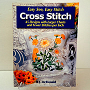 Cross Stitch.  45 Designs & Charts.  As New Condition.