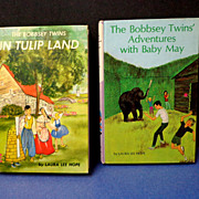 2 Bobbsey Twins.  In Tulip Land.  Adventures with Baby May.  Early eds.  Mint condition.