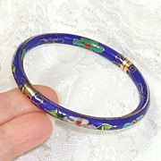 Cloisonn� Bracelet - Bangle.  Beautiful.  Fine condition.