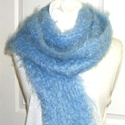 Incredible Kid Mohair 88� Scarf.  Soft Blue.  Fantastically light & soft!  Mint condition.