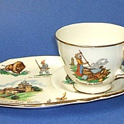 Royal Winton LE VIEUX CANADA Sandwich plate & Cup.  Rare!  Unusual.  Mint condition.