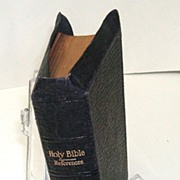 Holy Bible / Old & New Testaments & More!  Genuine Leather.  Illustrated. Maps. 4� x 6� size.