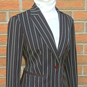 Tailored Suit: Jacket & Pants.  W.D.N.Y.  label.  Superb design!  As New Condition.