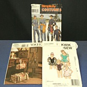 3 Craft Sewing Patterns.  Civil War Costumes,  Ballet Costume,  Handbags & Totes.  Uncut, unus