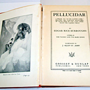 Pellucidar.  Edgar Rice Burroughs. 1923.  Illust.  J. Allen St. John.  Tarzan author. Classic.