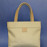 Vintage Calvin Klein  Bag  /  Purse. Khaki & Tan.  As New Condition.