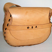 Split Cowhide.  Leather Laced. Large Purse.  Mint Condition.
