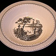 Vintage Wm. Adams & Sons Minuet Ironstone Transferware Round Serving Bowl