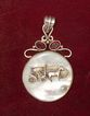 New Orleans Carriage Pendant MOP Stefano Velaskas Art Silver