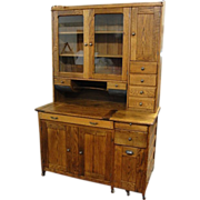 Large American Oak Kitchen Cabinet with Covered Dry Sink