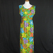SOLD Vintage 1960's Kehaulani Hawaiian wiggle maxi dress - Red Tag Sale Item