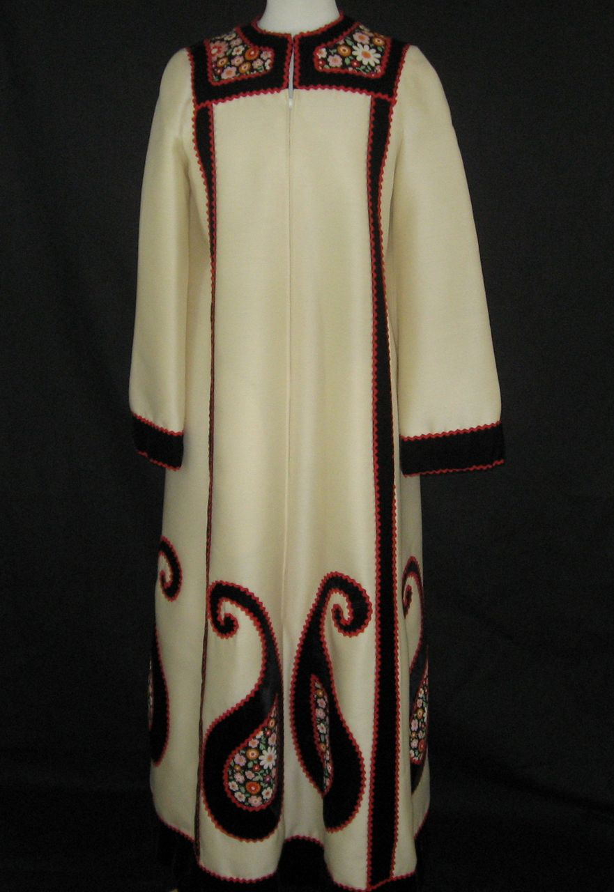 1970's Malcolm Starr Designed by Youssef Rizkallah Ethnic Robe Maxi Dress