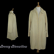 1950's Cream Long Swing Coat