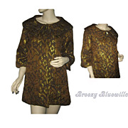Vintage Brown, Black and Gold Brocade Women's Evening Jacket