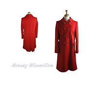 Vintage Susan Lynn Double Breasted Red Wool Coat