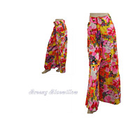 1970's Hippy Psychedelic Floral Palazzo Pants