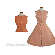 1950's Vintage Reversible Rockabilly Day Dress