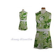 Vintage 1960's Green Tropical Shift Dress