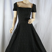 Vintage 1950's Black Evening Cocktail Dress
