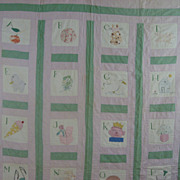 Vintage Depression Era ABC serial Quilt   Nancy Page Quilt Club