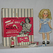 Vintage Toni Doll by Ideal in original box 1950 ~ P-91