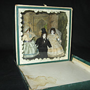 Antique Bride & Groom Wedding Room Box - Early 1900's