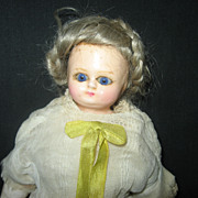 SOLD Antique Doll Wax over Composition with glass eyes
