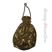 Vintage 1920's 1930's Whiting and Davis Mesh Gate Top Beggar's Handbag