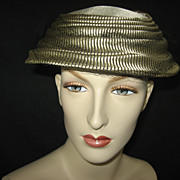 Vintage Champagne and Black Ladies Hat Topper