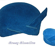 Vintage 1960's Blue Beehive Bubble Ladies Hat