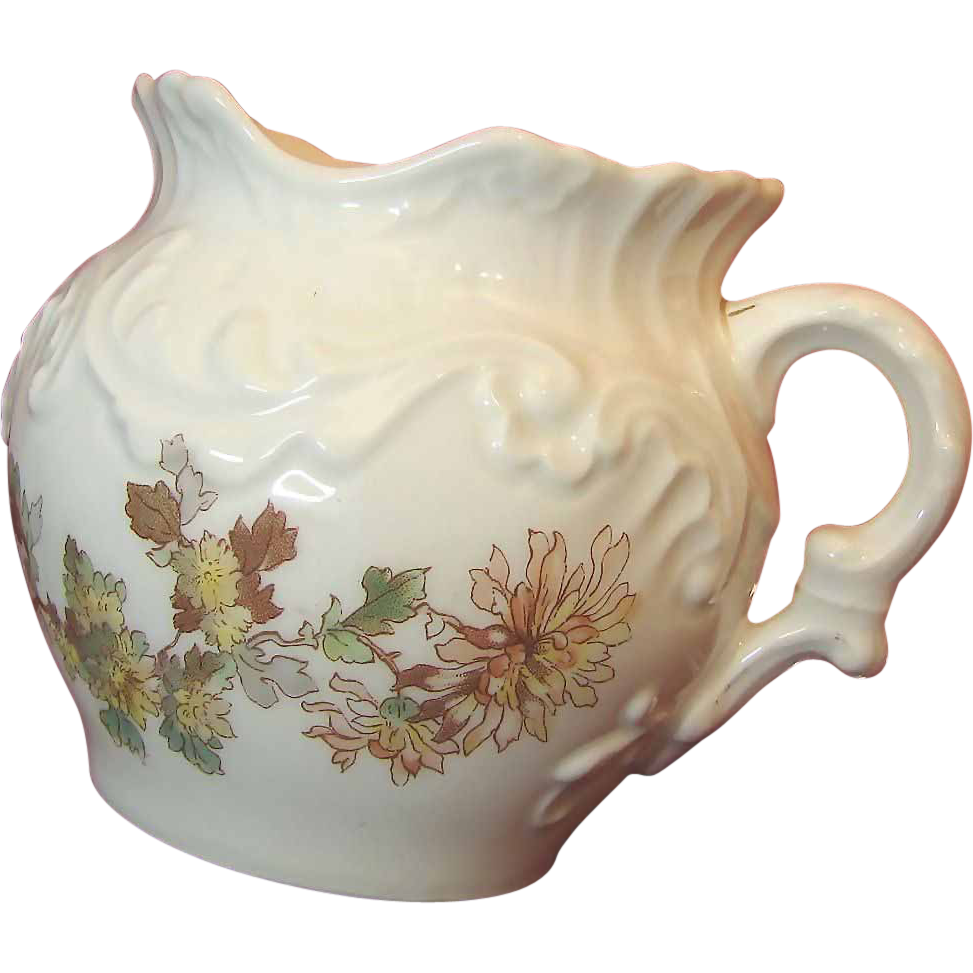 c. 1892 Limoges Porcelain Floral Cache / Waste Pot by Tressemann & Vogt