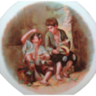 c.1918-1923 10 1/2 in. Melon Eaters Scene Cabinet Plate