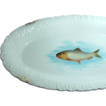 Austrian Ornate Gilded 18 In. Fish Platter - Porcelain by Bawo & Dotter, c.1898