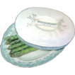 Rare Staffordshire Covered Asparagus Boote' - Platter by John Maddock & Sons, c.1880