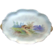 c.1900 LIMOGES Porcelain Rural Scene Tray / Platter by Charles Ahrenfeldt